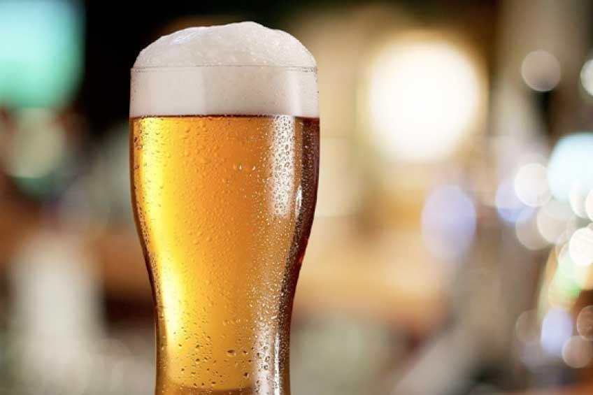 Glas glutenfreien Bieres